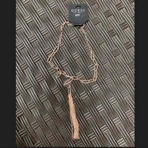 Guess Jewelry - Guess Rose Gold Large Link Tassel Necklace